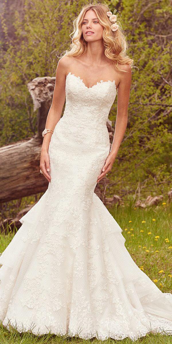 maggie sottero wedding dresses mermaid sweetheart full lace romantic 2017