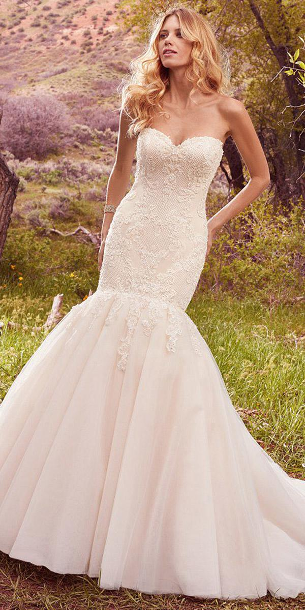 maggie sottero wedding dresses mermaid sweetheart lace 2017