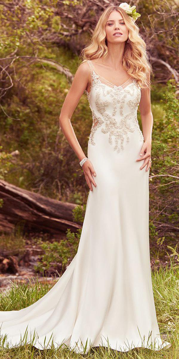 maggie sottero wedding dresses sheath beaded embroidered 2017