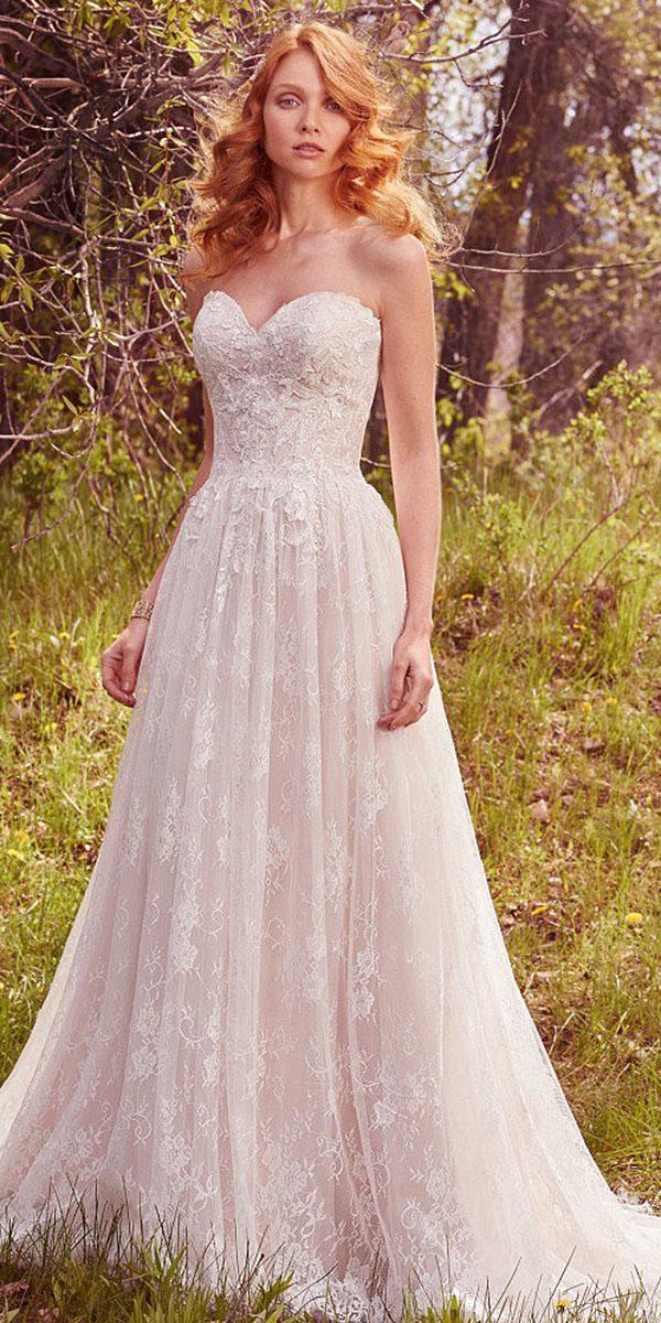 maggie sottero wedding dresses sweetheart floral embllishment 2017