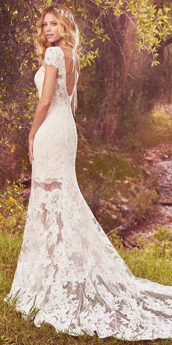 maggie sottero wedding dresses with cap sleeves open back lace 2017