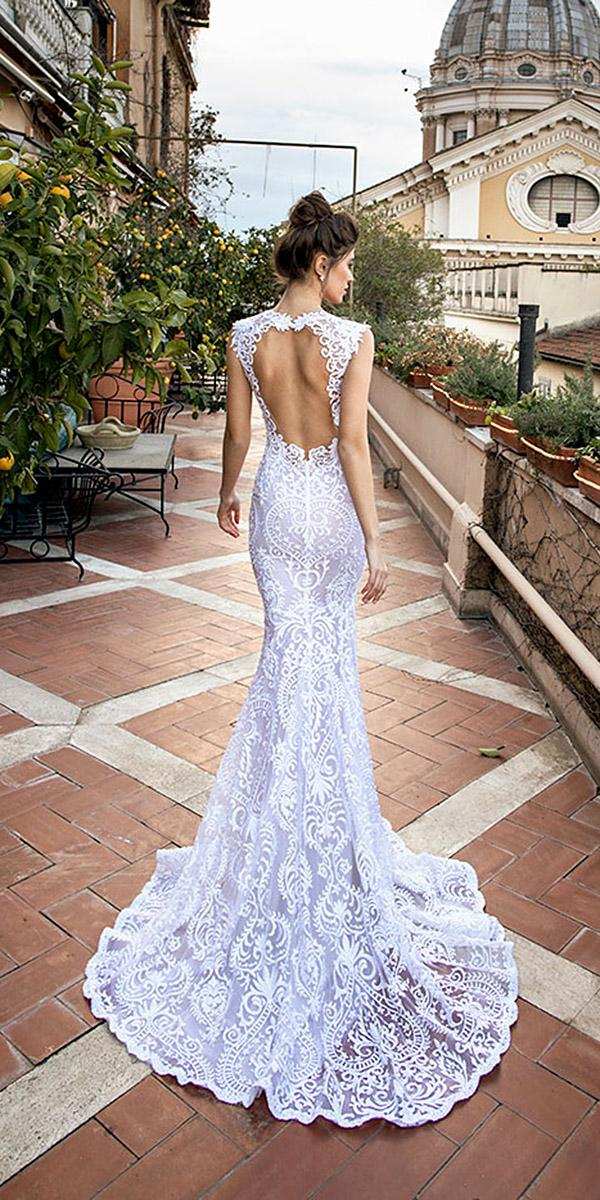 mermaid wedding dresses open back full lace dimitrius dalia