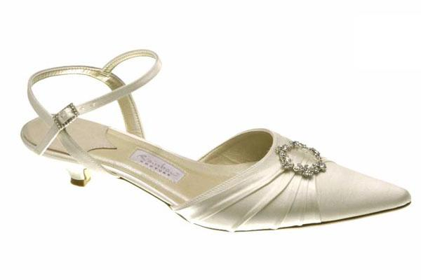modern ivory bridal shoes