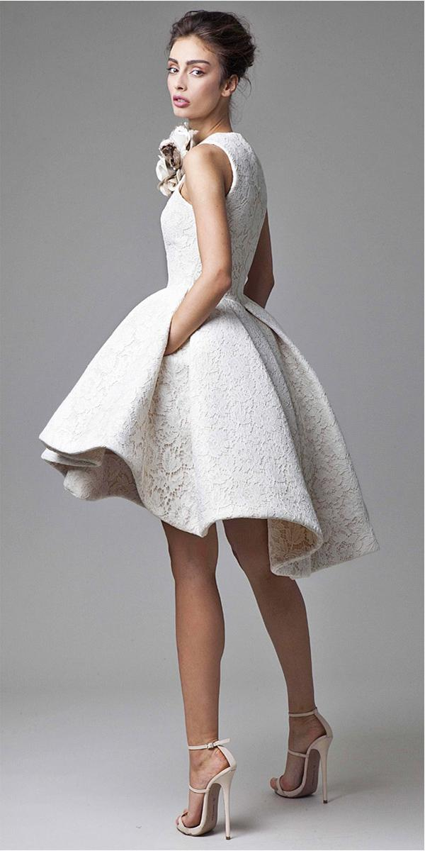 Most Por Lace Krikor Jabotian Short Wedding Dresses