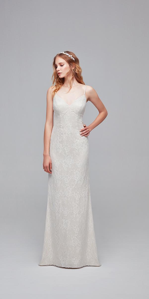 oleg cassini wedding dresses cheap sheath with straps lace