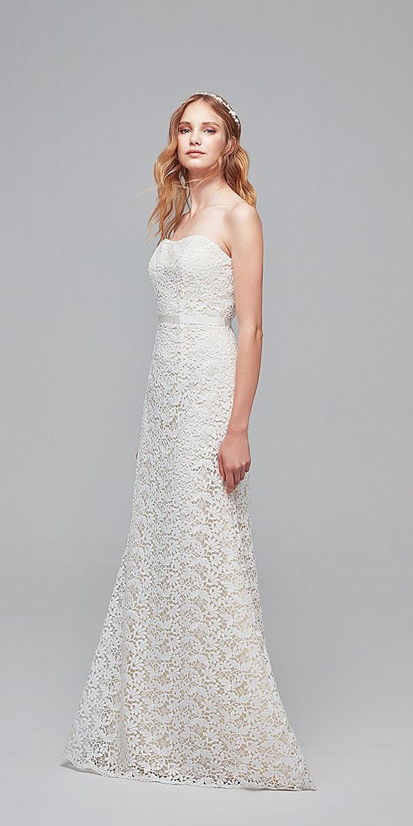 oleg cassini wedding dresses sheath sweetheart delicate lace cheap
