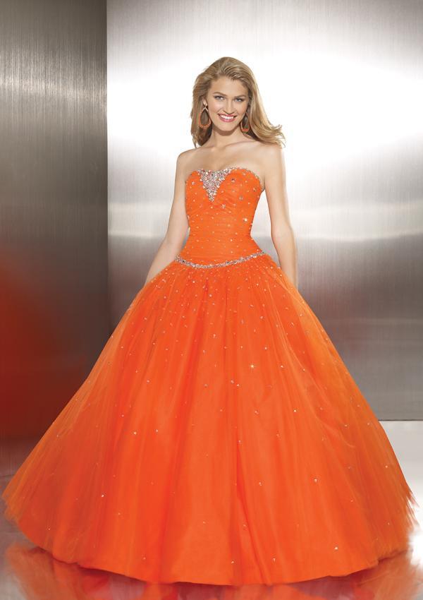 orange wedding dresses for women