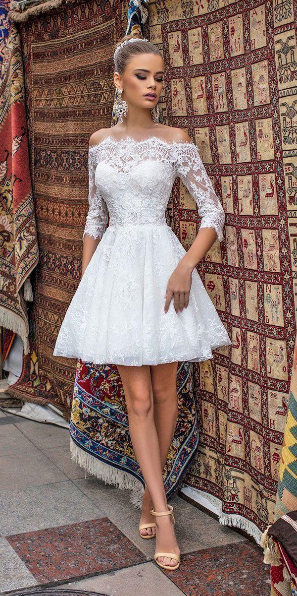 short wedding dresses off the shoulder sweetheart lace sexy 2018 liretta