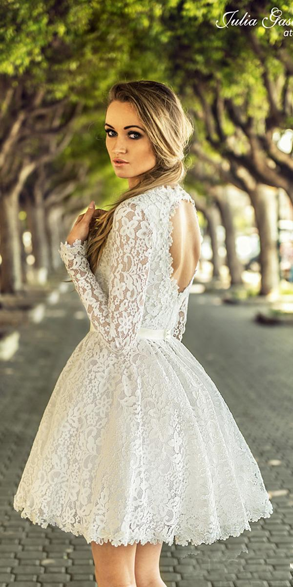 short wedding open long sleeves full lace julia gastol