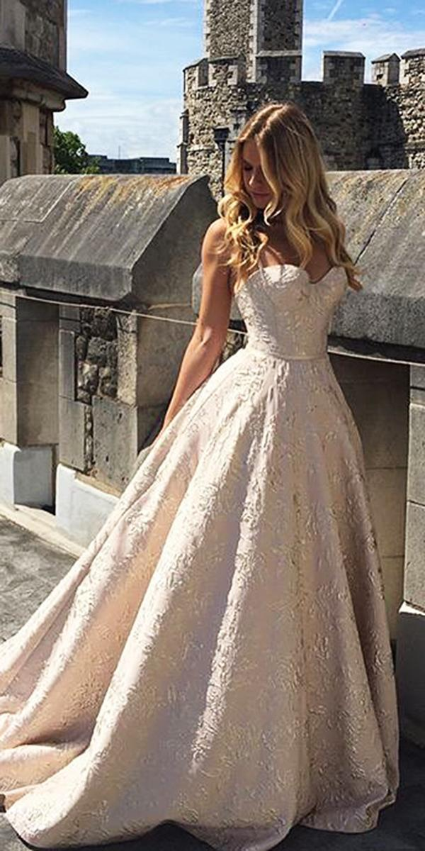 blush a line sweetheart strapless wedding dresses suzanne neville