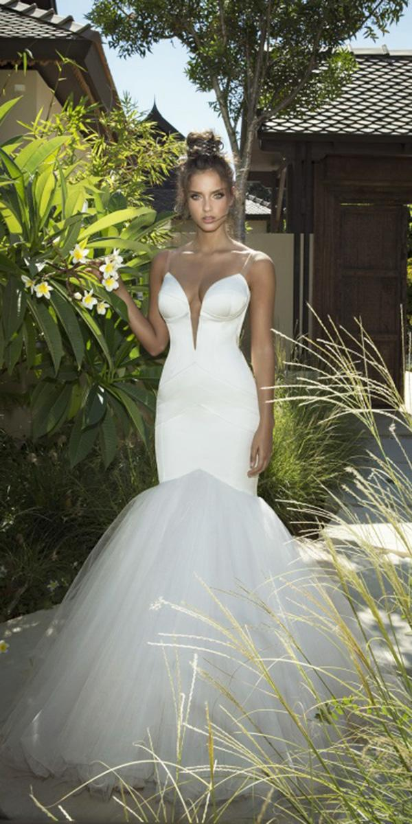 strapless wedding dresses mermaid with spaghetti straps simple oved cohen