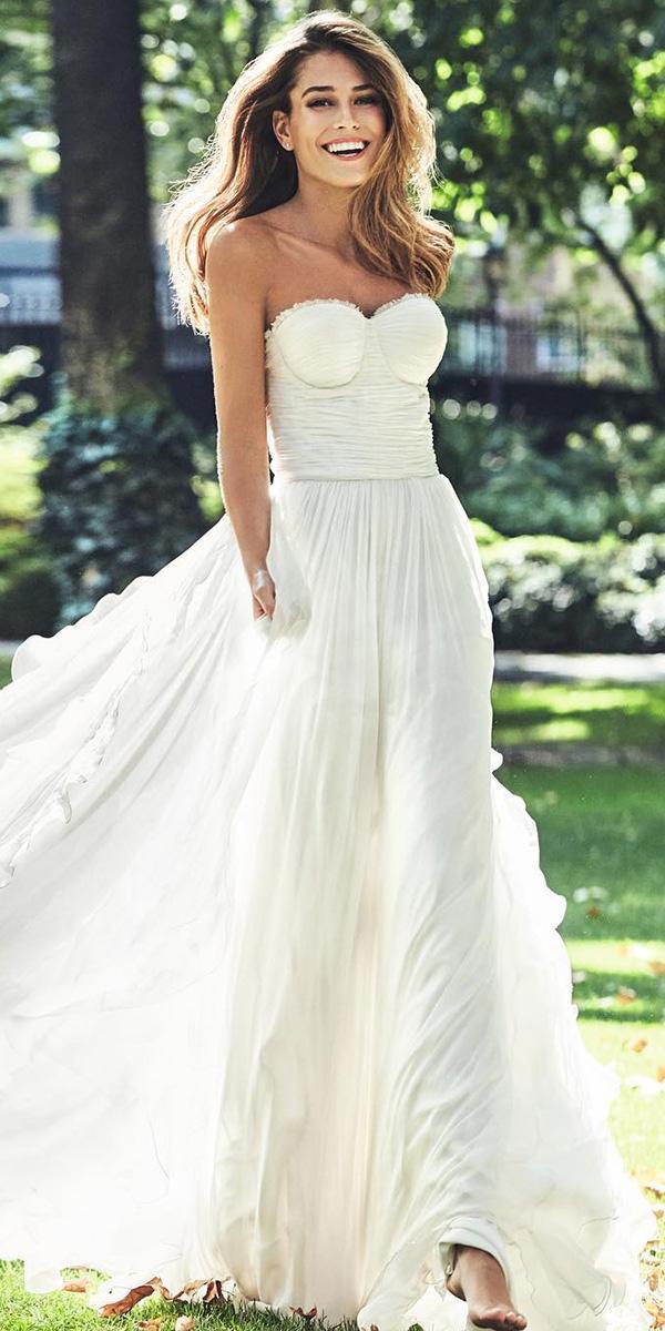 strapless wedding dresses sheath simple beach pronovias