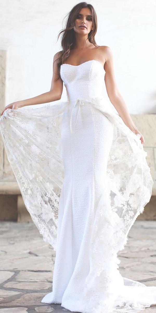 strapless wedding dresses sweetheart sheath simple katie may