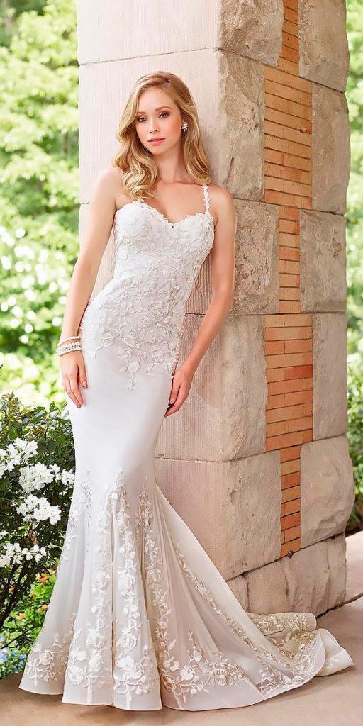 western wedding dresses mermaid lace sweetheart neck spaghetti straps mon cheri