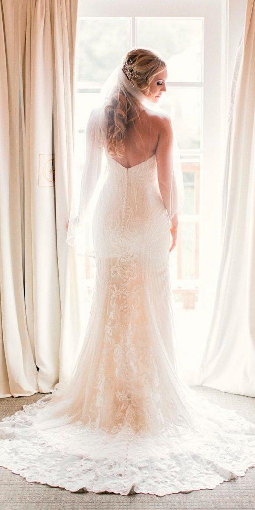 western wedding dresses straight lace strapless country style lovebyjtori