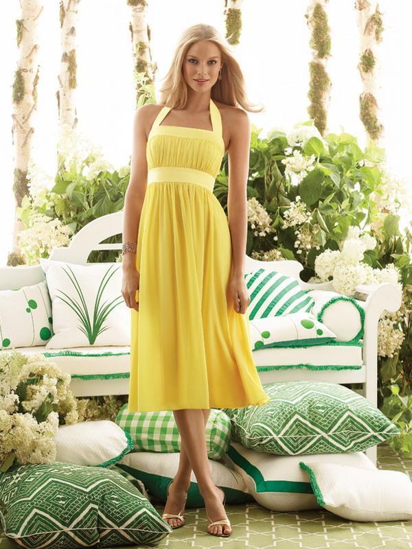 yellow bridesmaid dresses for wedding