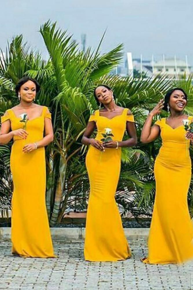 yellow bridesmaid dresses long off the shoulder sheath mustard j gates visuals