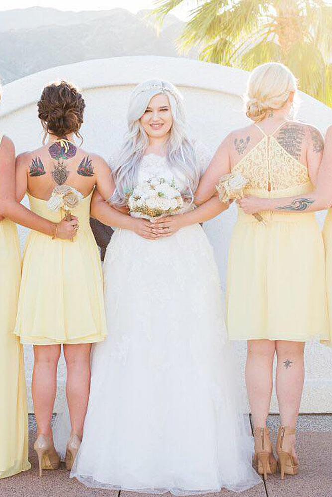 yellow bridesmaid dresses short pale color davids bridal