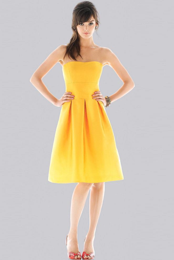 yellow bridesmaid styles dress