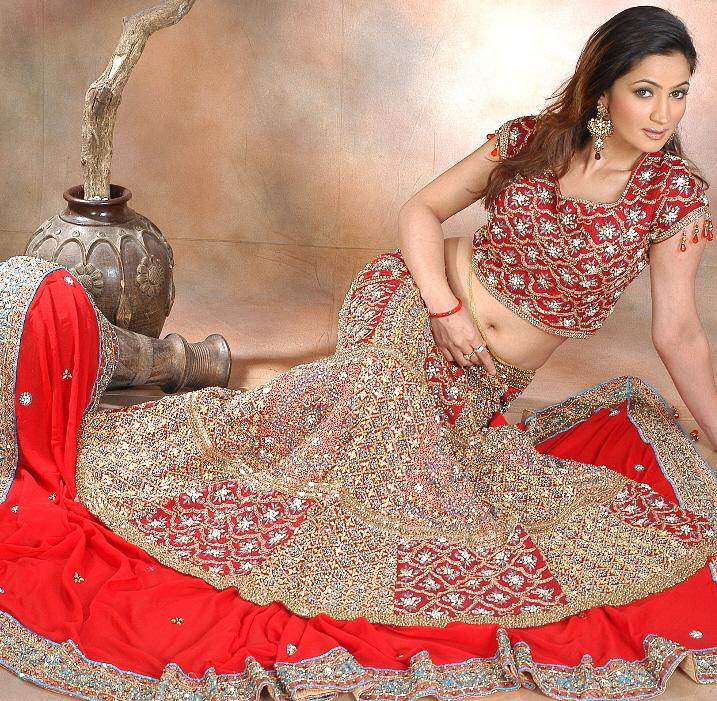 Red Bridal Lehenga 2012