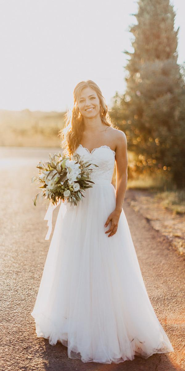 a line wedding dresses sweetheart simple chiffon skirt wtoo by watters