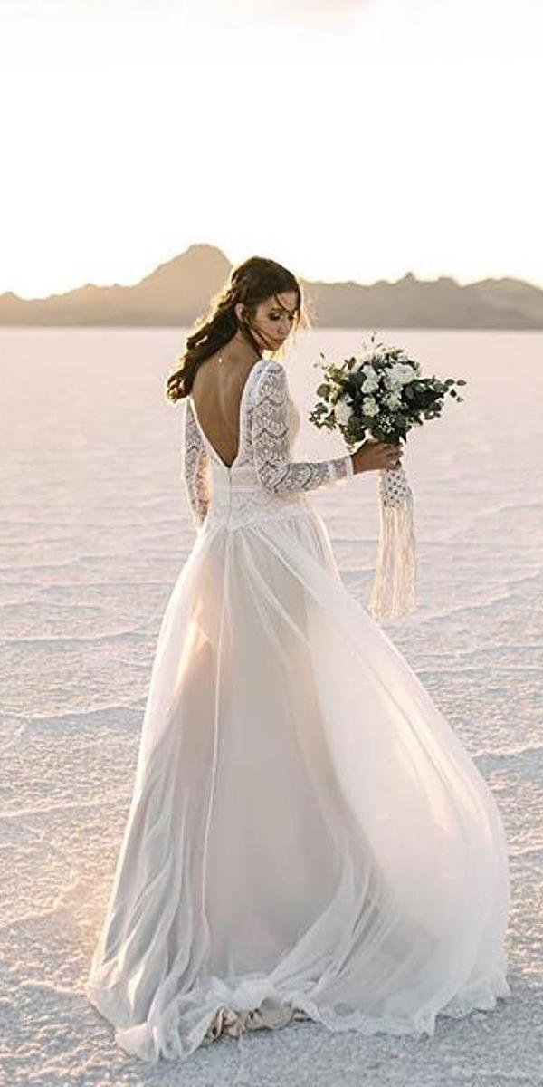 a line wedding dresses v back with long sleeves lace top beach maggie sottero designs