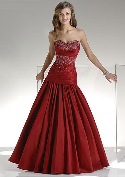 blood red wedding dress