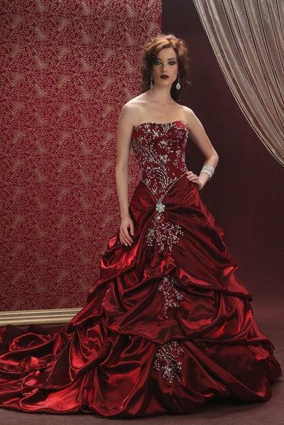 blood red wedding dresses