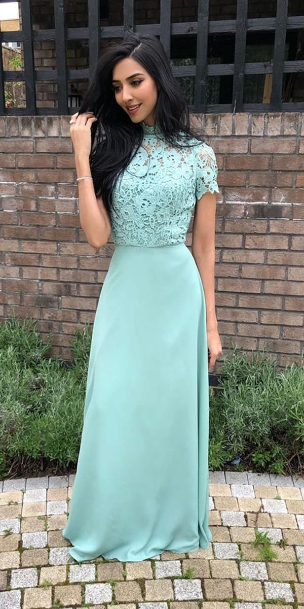 cheap bridesmaid dresses long green lace top with cap sleeves under 100 chi chi london