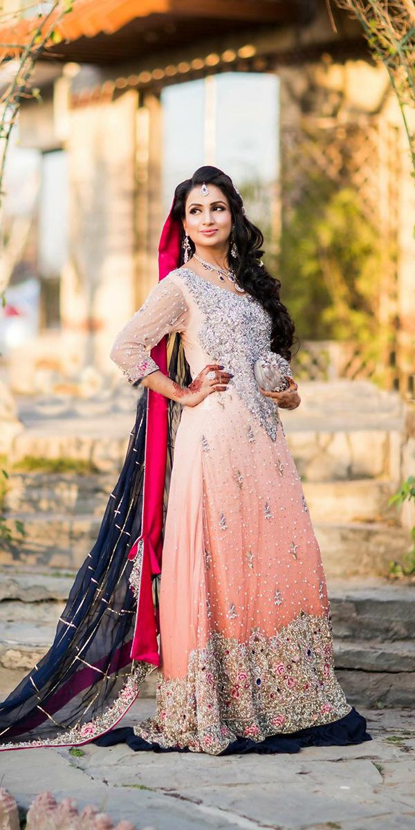 muslim wedding dresses colored beaded pakistani bride