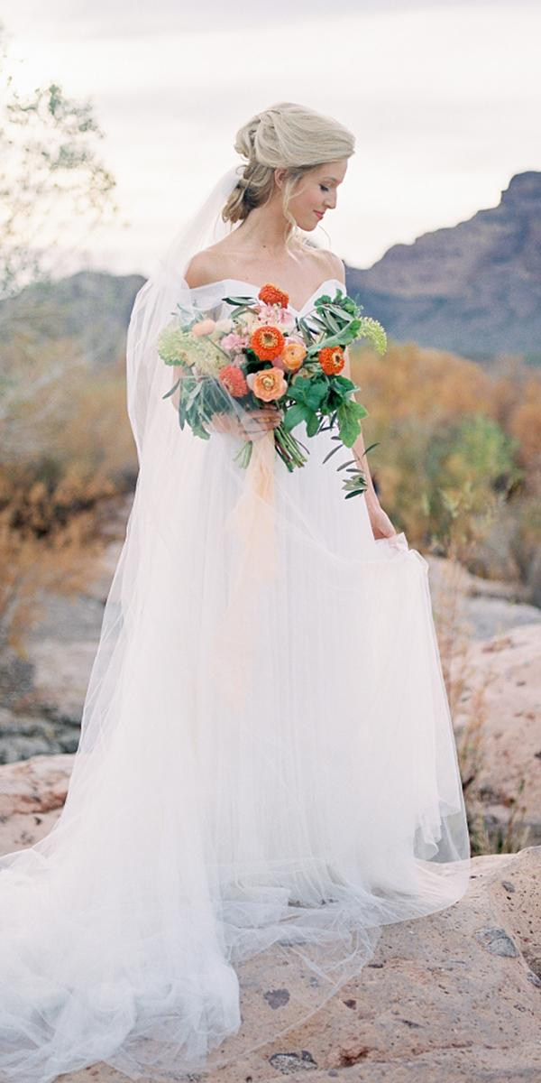 a line wedding dresses off the shoulder simple romantic sarah jane beasley