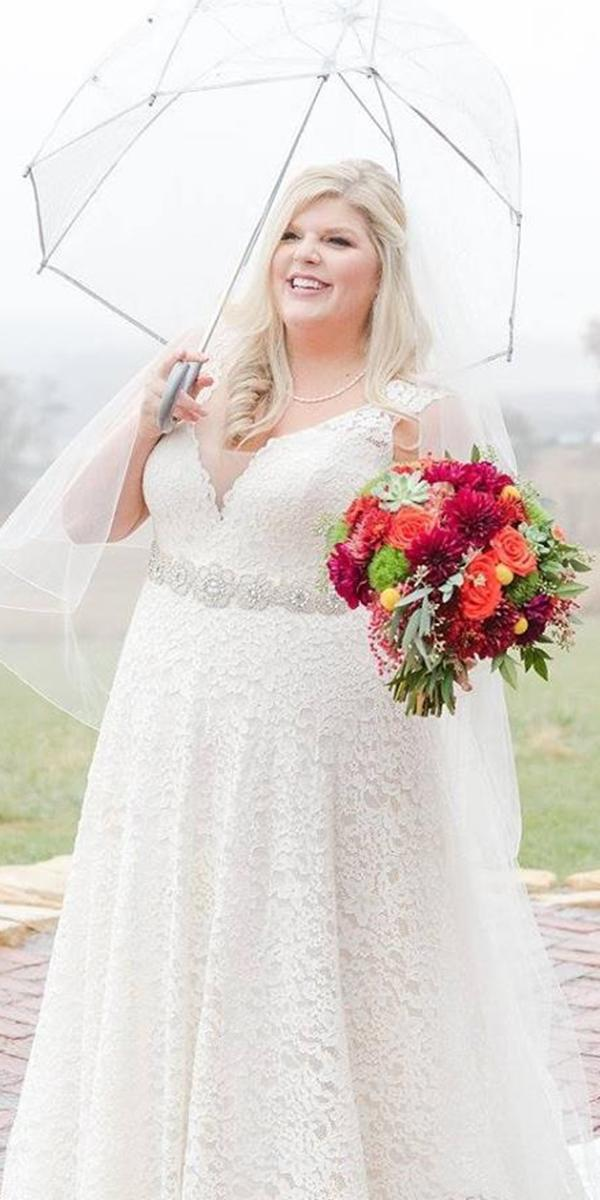 plus size wedding dresses a line sweetheart beaded belt full lace heather brulez hotography