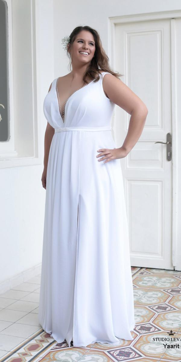 plus size wedding dresses simple sheath sweetheart levana