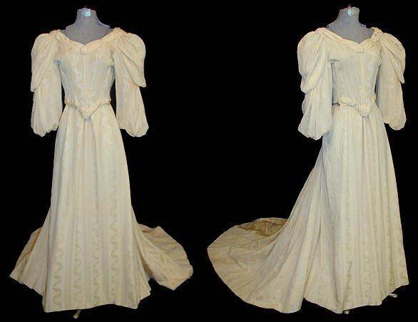 1890's Cream Wedding Gown