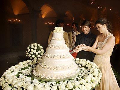 crooked wedding cake