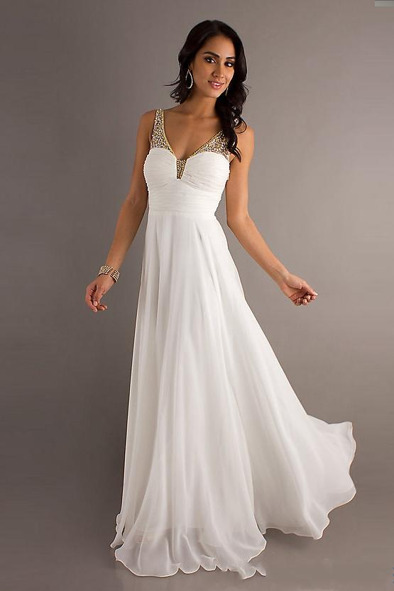 White And Ivory Prom Dresses - Holiday Dresses