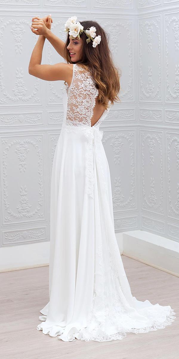 white elegant gowns a line lace top open back cheap marie laporte