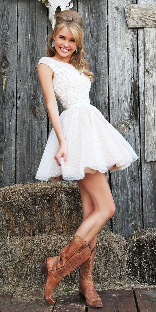 white elegant gowns short sleeveless sherri hill
