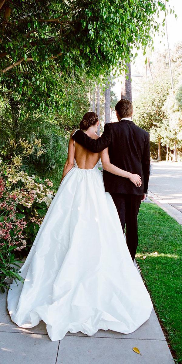 ball gown simple open backless wedding dresses yvette roman