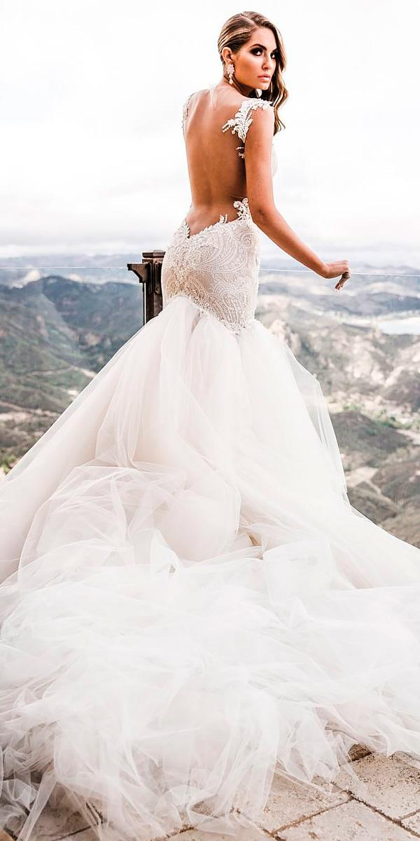 lace mermaid low open backless wedding dresses galia lahav