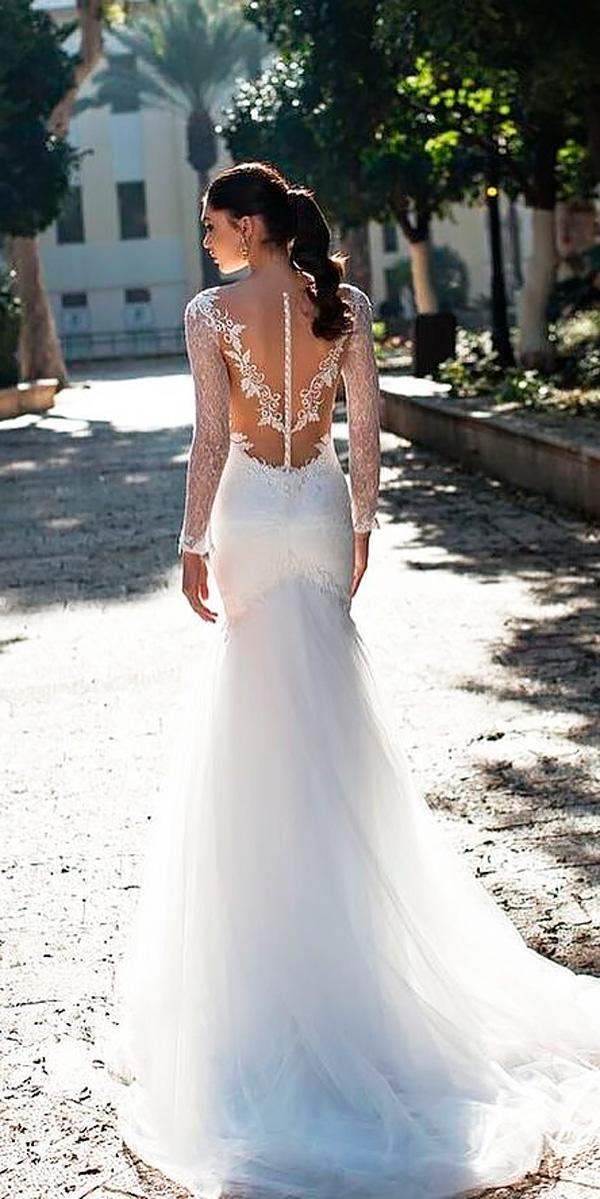 sheath long sleeved backless wedding dresses riki dalal