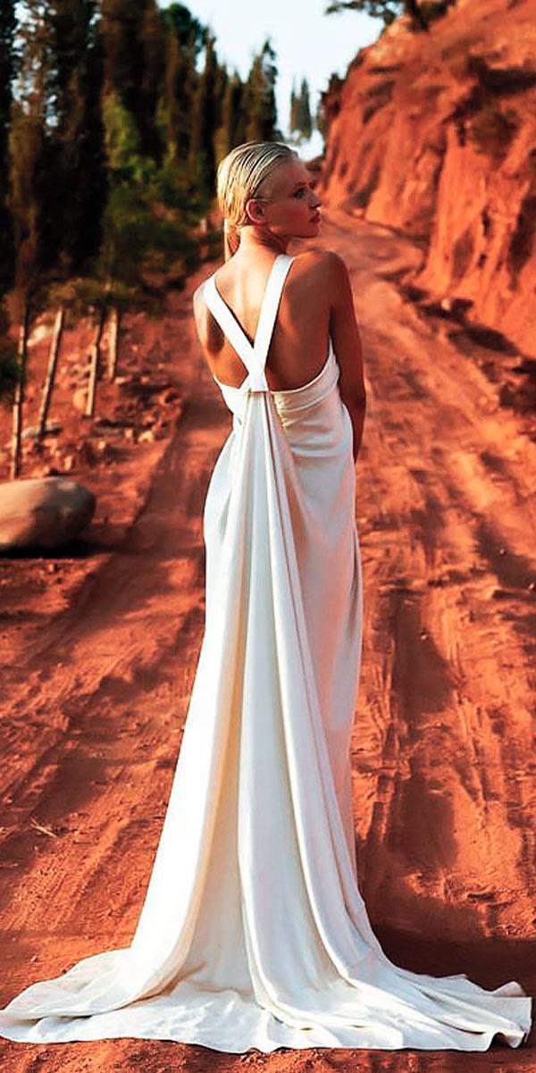 sheath simple modern backless wedding dresses amanda wakeley