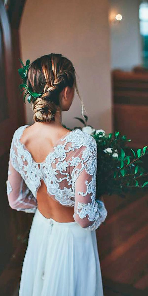 straight lace long sleeved backless wedding dresses ivy road