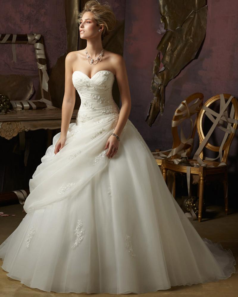 new-design-white-strapless-dresses