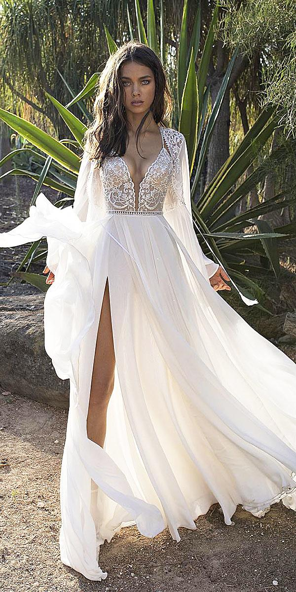 lace beach wedding dresses lace top sheath romantic asaf dadush bridal