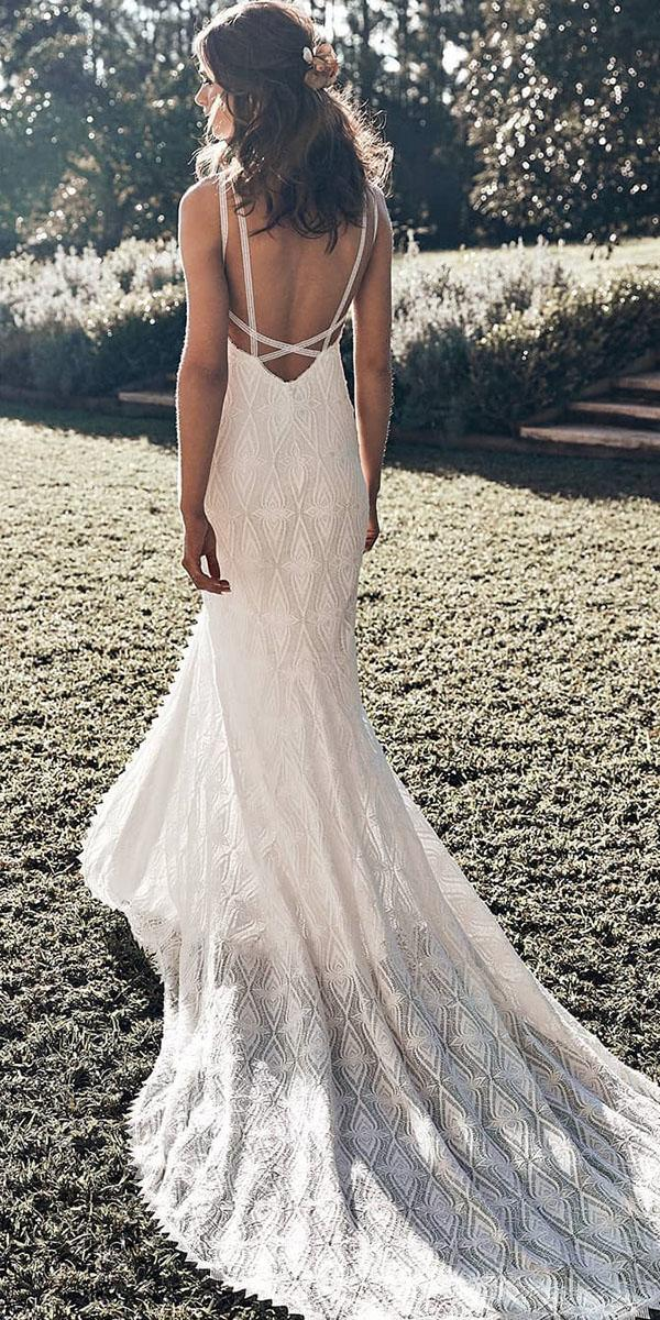 lace beach wedding dresses mermaid backless rustic with train grace loves lace