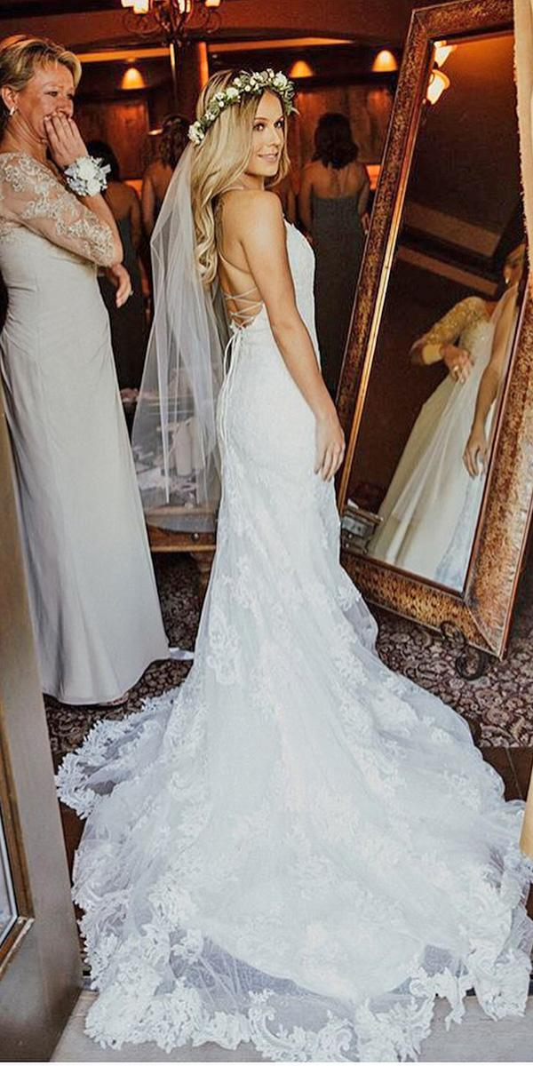lace beach wedding dresses open back romantic charlotte francisphoto