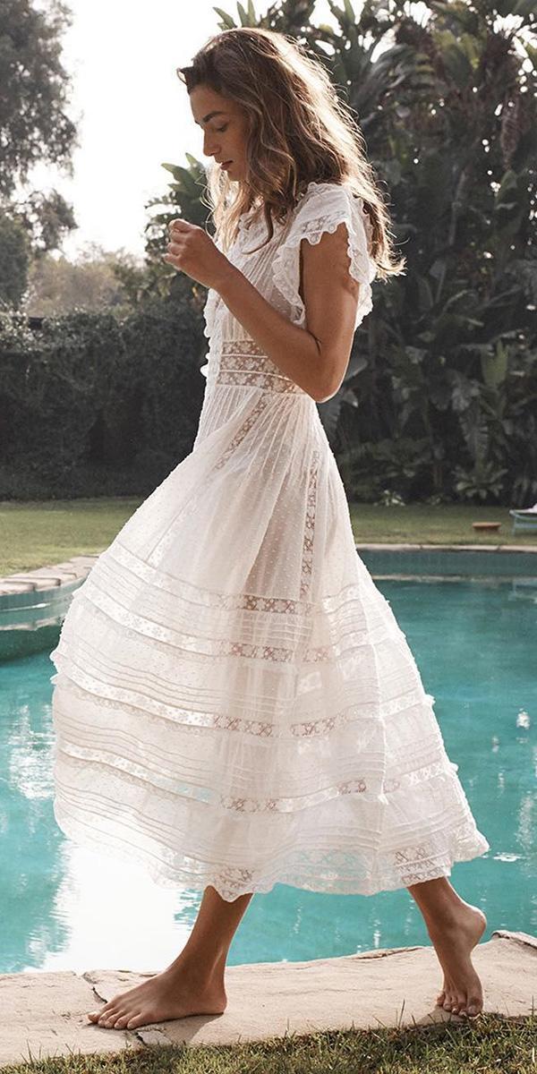 lace beach wedding dresses rustic lace zimmermann