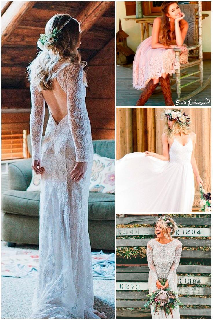 rustic wedding dresses collage