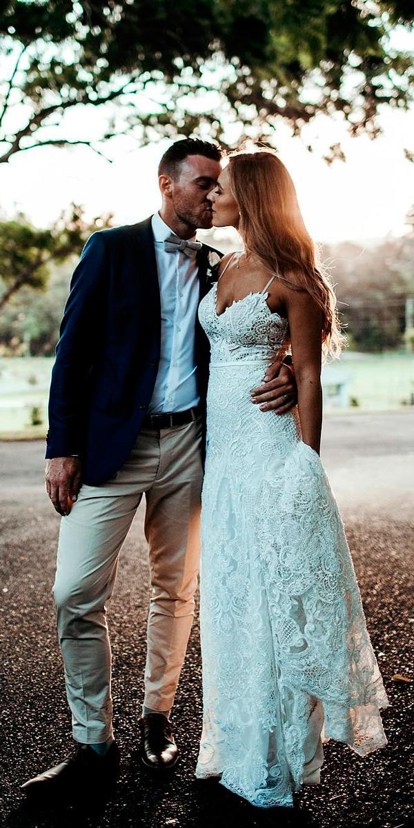 rustic wedding dresses sheath sweetheart neck spaghetti straps lace ivyroad